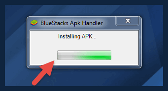 installing apk file in bluestacks app emulator to download tubemate for pc